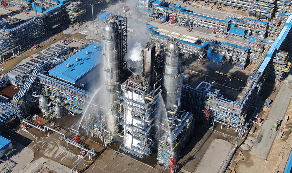 Пожар на Амурском газоперерабатывающем заводе