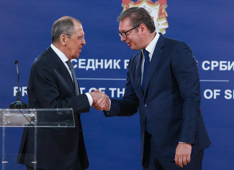 Сергей Лавров и президент Сербии Александр Вучич