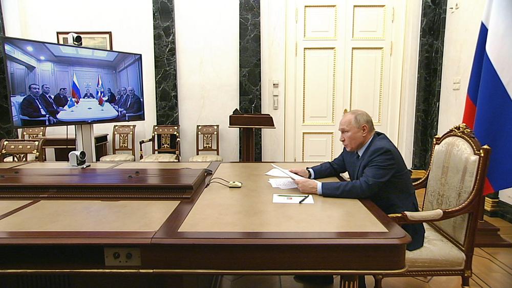 Владимир Путин провел видеовстречу с главами спецслужб стран СНГ