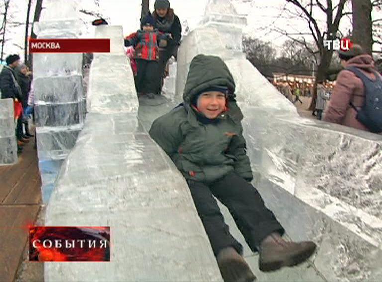 """Ледяная корка в парке """"Сокольники"""""""