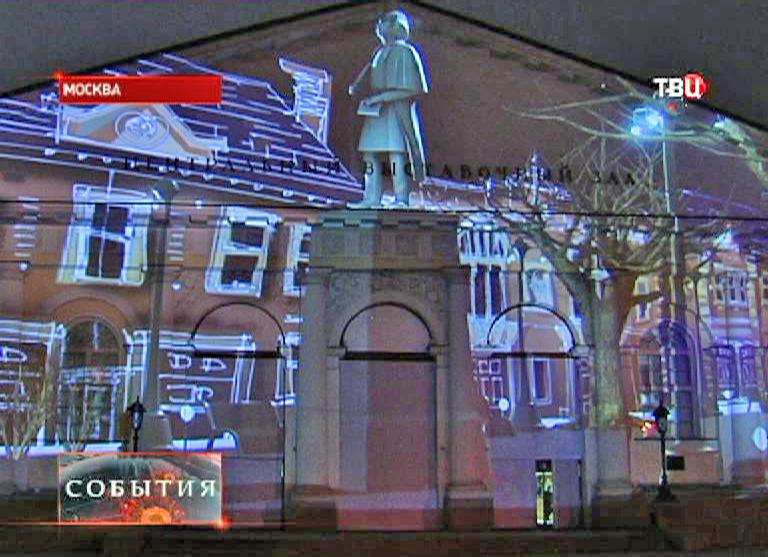 """3D-шоу """"Сны Москвы"""" на здании Манежа"""