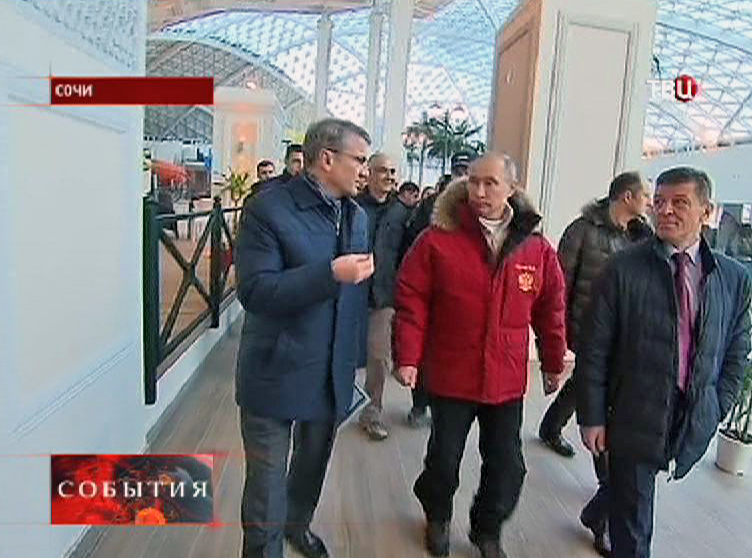 Владимир Путин на инспекции в Сочи