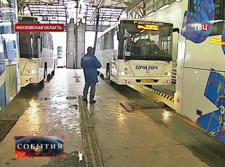 Технических осмотр автобусов