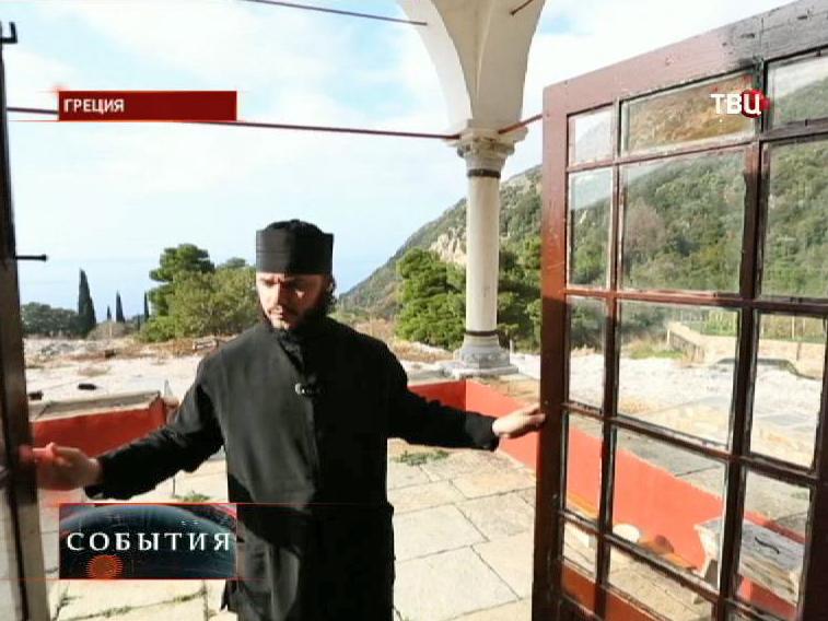 Монах монастыря Святого Павла на Афоне