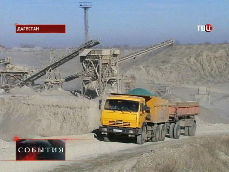 Строительство дороги в Дагестане