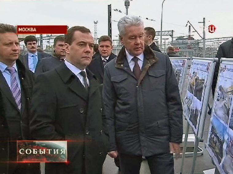 Дмитрий Медведев и Сергей Собянин осматривают Курский вокзал