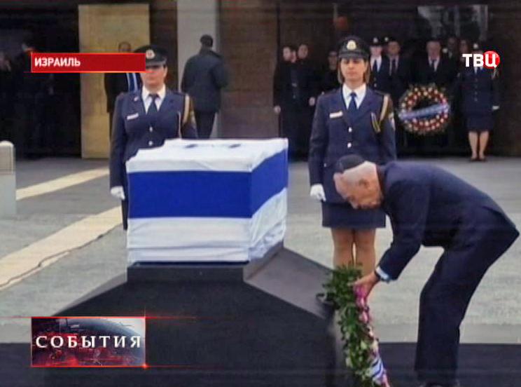 Церемония прощания с Ариэлем Шароном