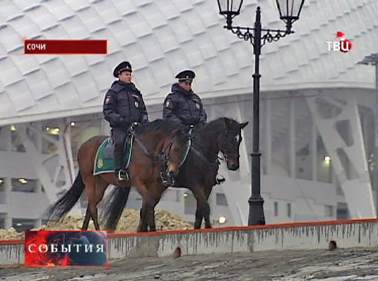 Конная полиция в Сочи