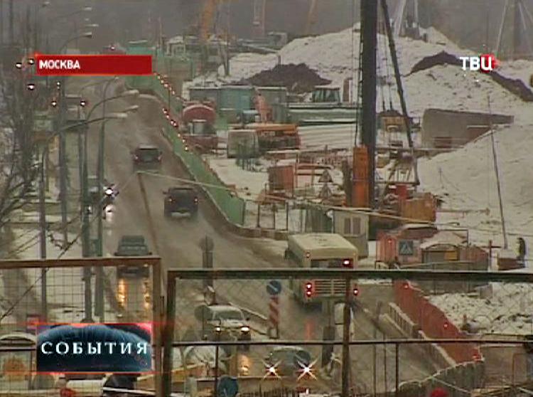 Строительство транспортного узла на севере Москвы
