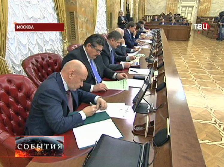 Заседание столичного правительства