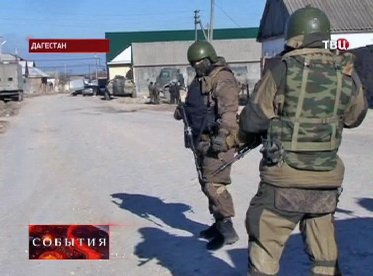 Спецназ на месте спецоперации в Дагестане