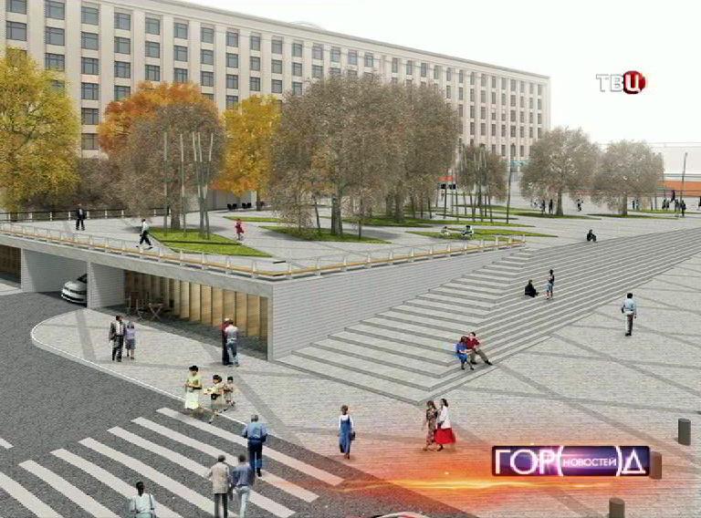 Графическая модель Триумфальной площади