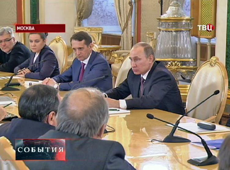 Владимир Путин на встрече с разработчиками концепции учебника по истории