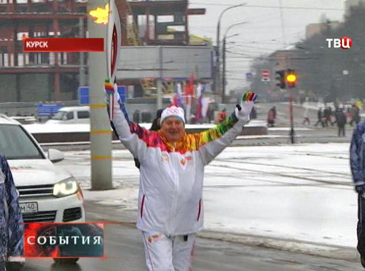 Олимпийский огонь в Курске