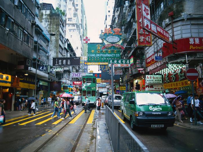 Улица в Гонконге