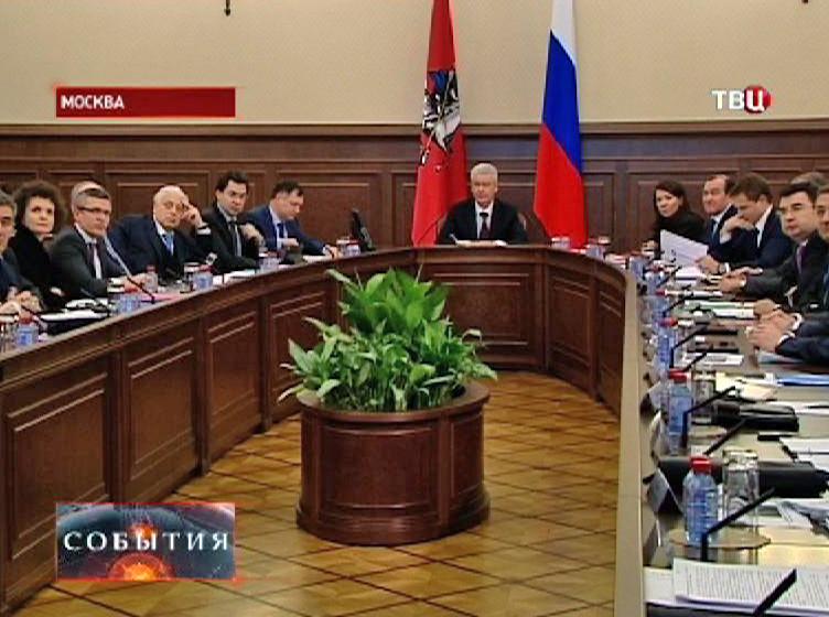 Сергей Собянин на оперативном совещании
