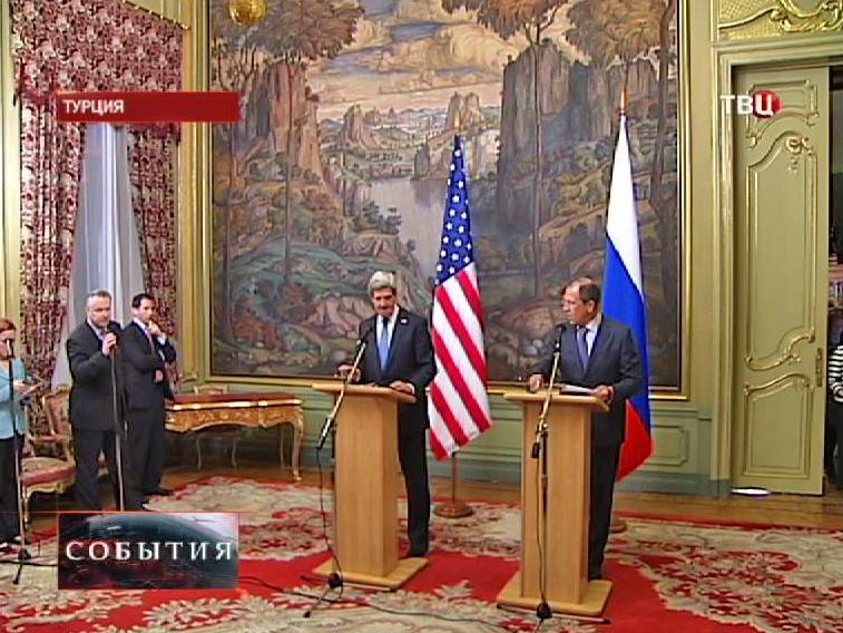Сергей Лавров и Джон Керри на в встрече в Турции