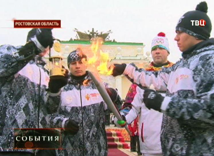 Олимпийский огонь в Ростовской области