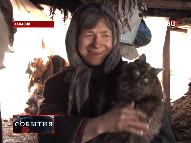 Жительница скита старообрядцев в Хакасии Агафья Лыкова