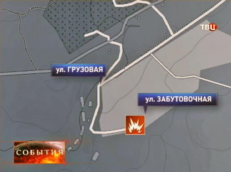 Место взрыва в Кемеровской области