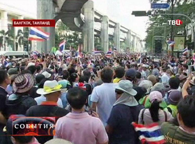 Митингующие в Бангкоке
