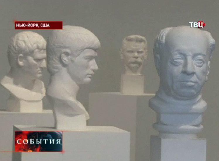 Скульптуры из бумаги на выставке в Нью-Йорке