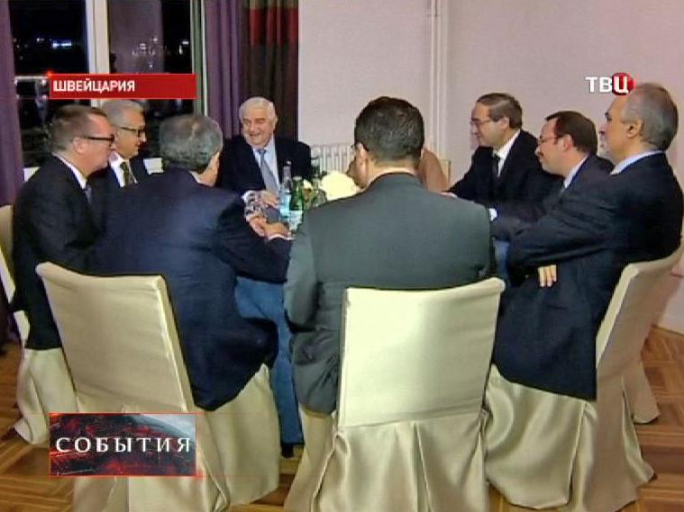 """Правительственная делегация из Сирии на конференции """"Женева-2"""""""