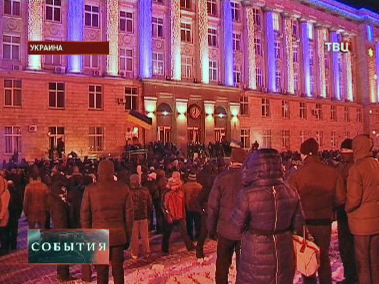 Акция протеста у здания здание министерства аграрной политики в Киеве