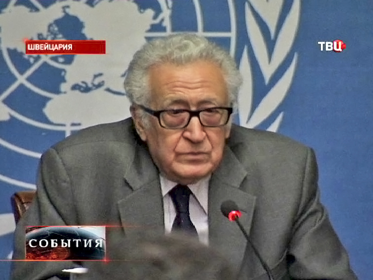 Cпецпредставитель ООН и Лиги арабских государств по Сирии Лахдар Брахими