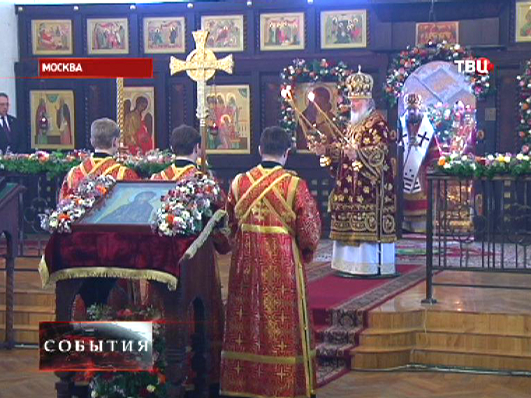 Патриарх Московский и всея Руси Кирилл провел богослужение в Домовом храме мученицы Татианы