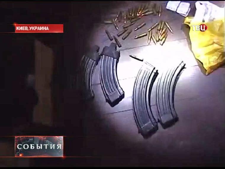 Изъятое оружие у протестующих в Киеве