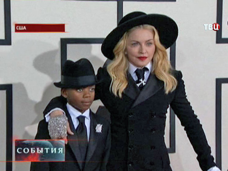 Певица Мадонна Луиза Чикконе и ее сын Дэвид Банда