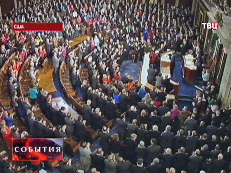 """Барак Обама выступает с традиционным ежегодным обращением""""О положении в стране"""""""