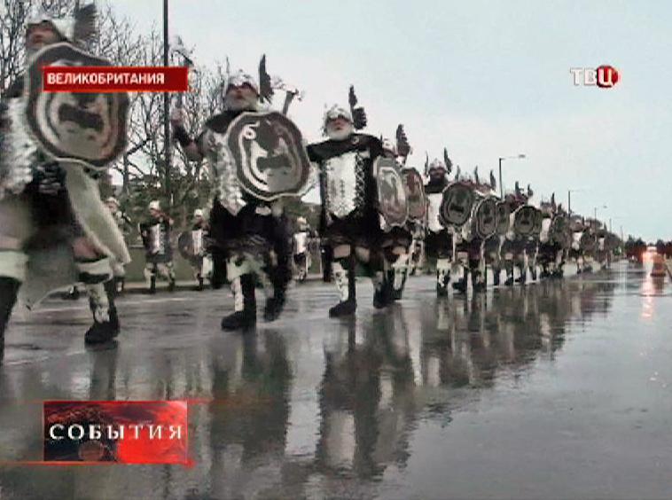 Парад викингов в Великобритании