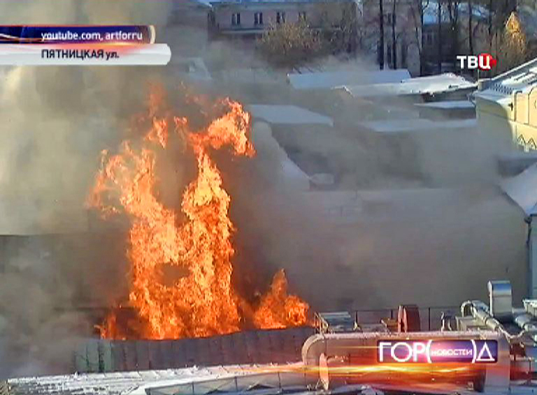 Взрыв газового баллона в ресторане на Пятницкой улице