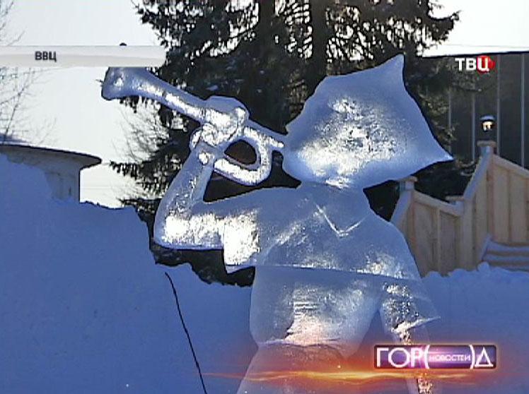 Ледяная скульптура на ВВЦ