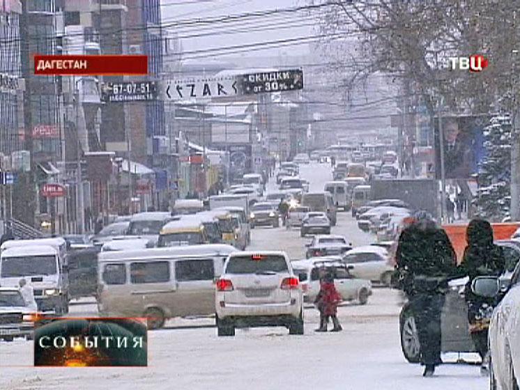 Снегопад в Дагестане