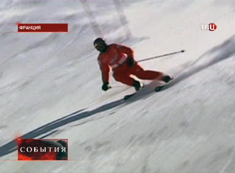Михаэль Шумахер на склоне
