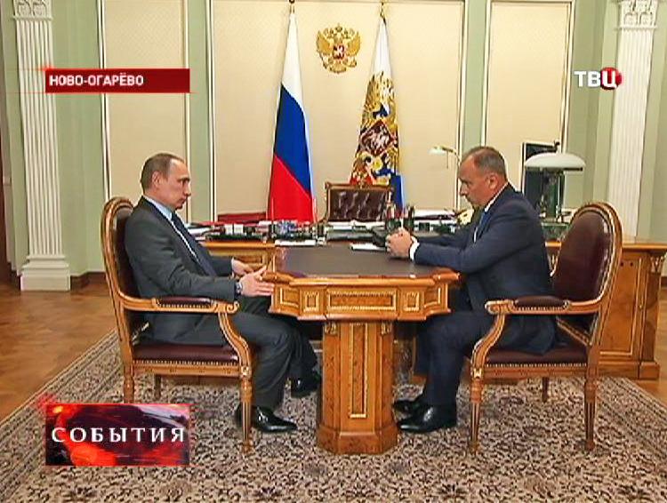 Встреча Владимира Путина с главой ВЭБ Владимиром Дмитриевым