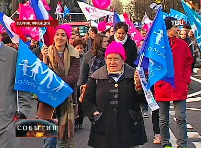 Акции протеста против однополых браков во Франции