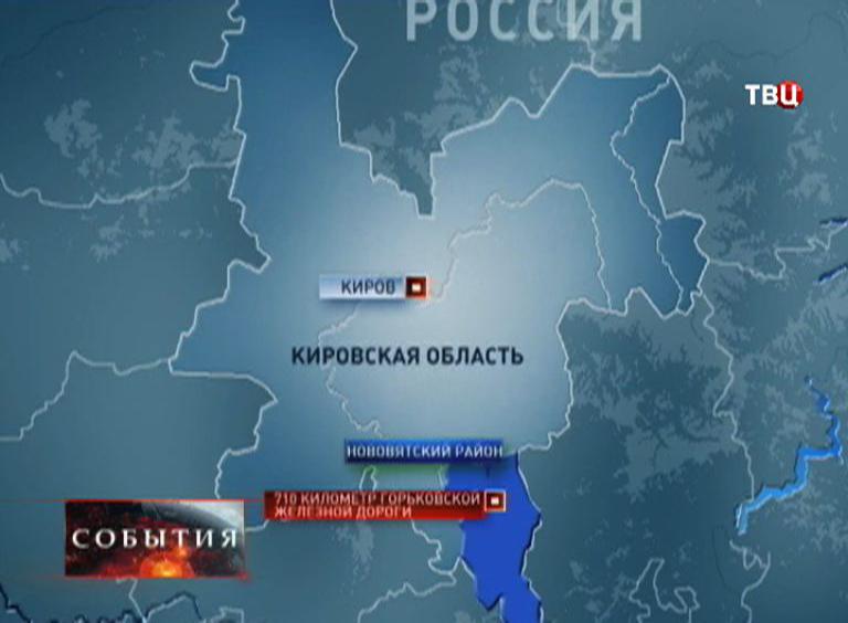 Карта Кировской области