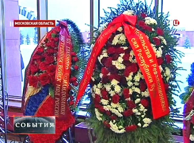 Похороны маршала СССР Василия Петрова прошли на мемориальном кладбище в Мытищах