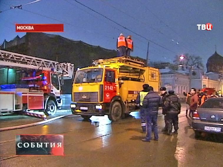 Пожарная служба на месте происшествия