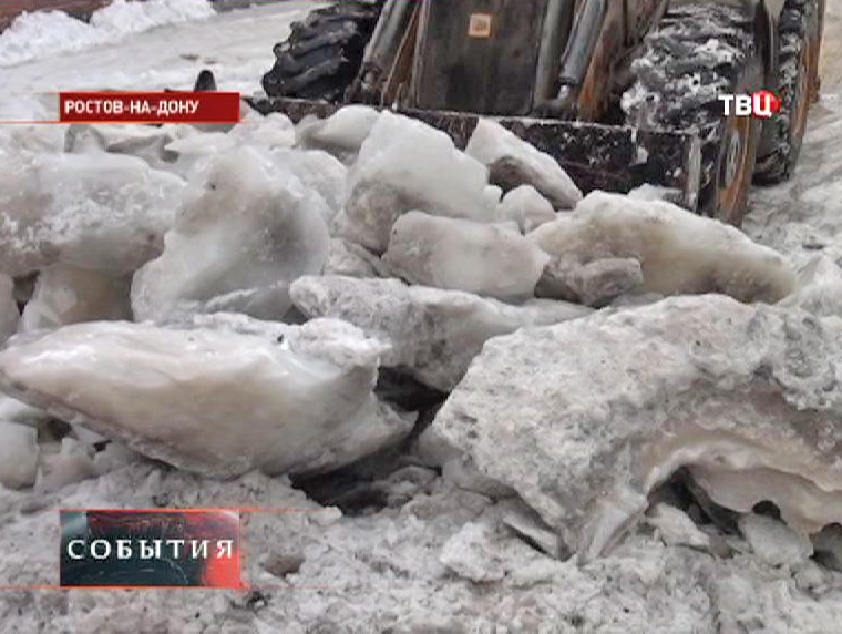 Уборка улиц Ростова-на-Дону от снега
