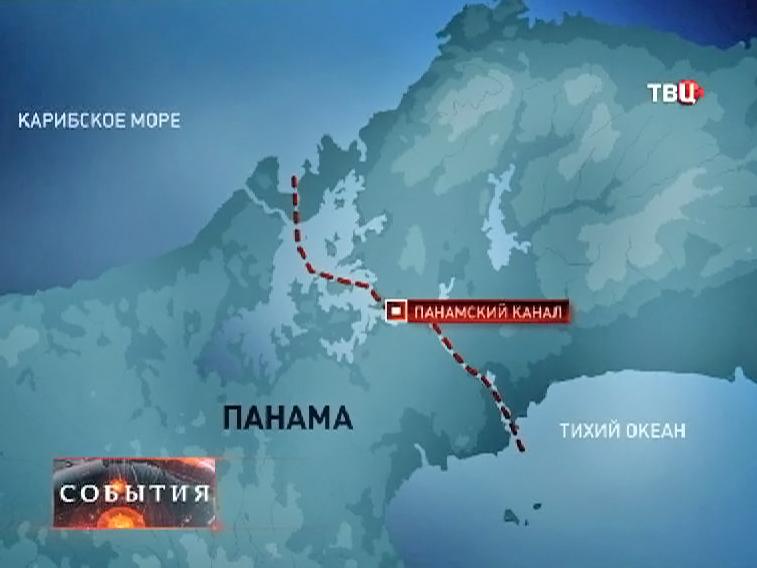 Карта Панамского канала
