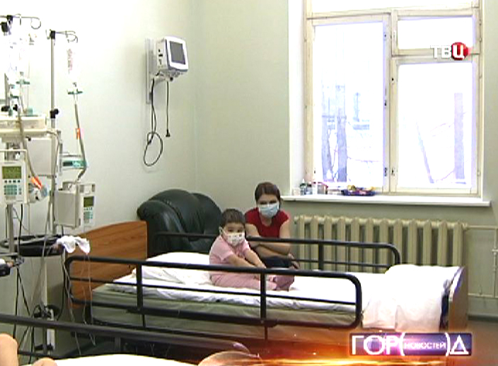Дети в палате в Морозовской больнице