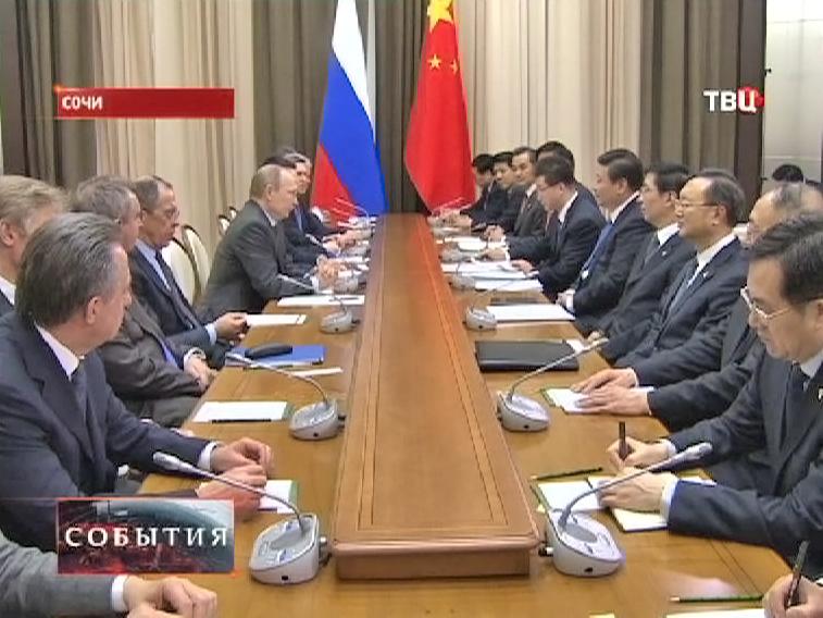 Владимир Путин на встрече с председателем КНР Си Цзиньпинем