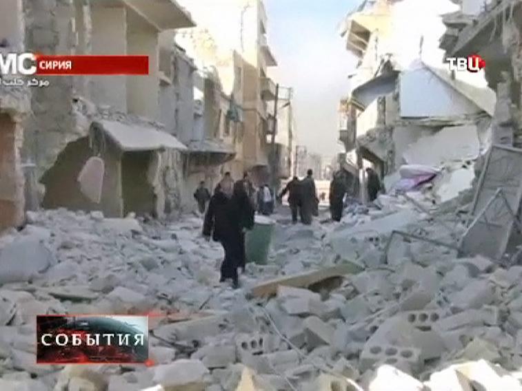 Руины в Сирийском городе