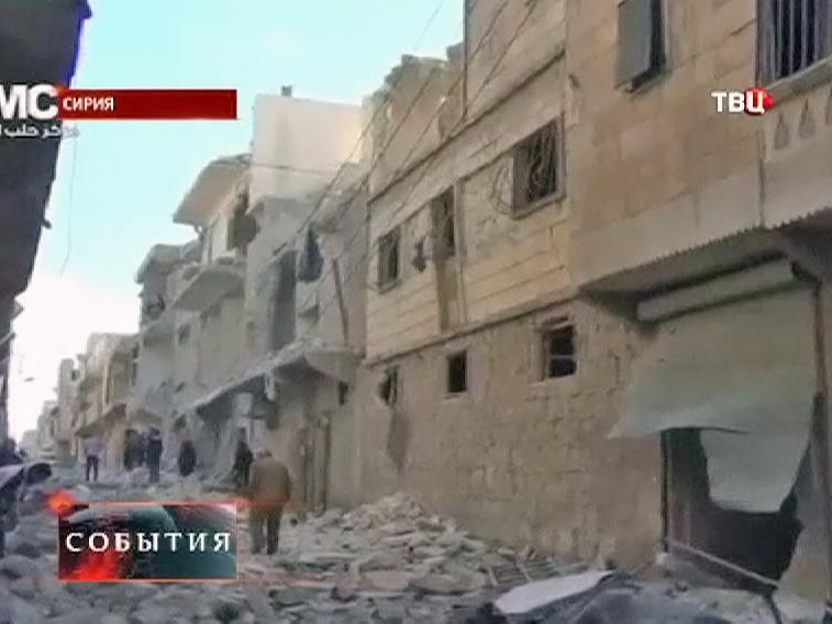 Руины в сирийском городе Хомс