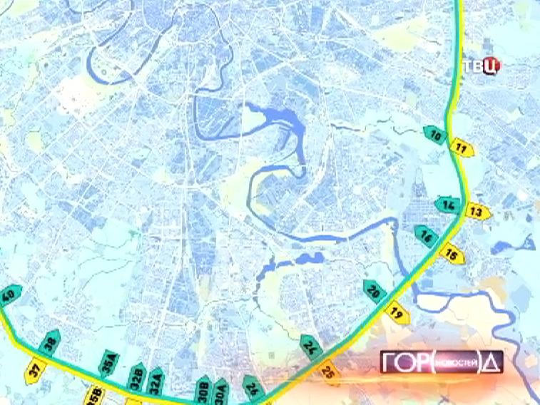 Карта МКАДа